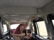 Big mouth blonde sucks balls in cab