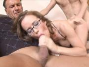 Smoking slut gets her daily dose of semen.