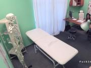 Doctor cures patient with office fuck
