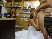 Babe in wedding dress reamed by pawn man
