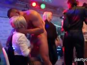 Flirty girls get totally insane and nude at hardcore party