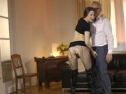 Teenage euro plowed after tugging seniors dick