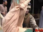Arabs In Hijabs Treated To Western Soldier Cocks