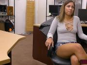 Latina Mariah gets a good size of cock in the office