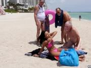 Old man fucks girl Staycation with a Latin Hottie