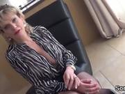 Unfaithful british milf lady sonia exposes her large tits