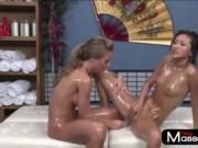 SexyMassageOil - Lesbian oiled sexy girls sex
