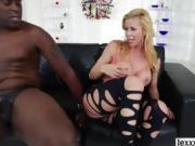 Slutty big assed Alexis Fawx fucks an enormous black cock