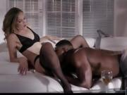 Sexy blonde milf Mona Wales anal pounded by black man