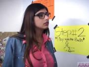 Arab guy white girl xxx BJ Lessons with Mia Khalifa