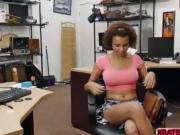 Slutty babe sucks pawndudes dick within seconds for money