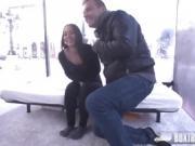 Hot Petite Nomi Malone gets a Public Facial