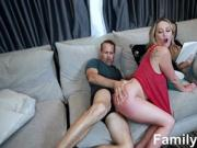 Step Daughter Get Horny With Dad's C***k In Front Of Mom