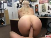 Busty stripper boning with pawn dude at the pawnshop