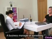 Spex amateur casting agent sucks and rides clients cock