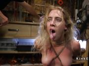 Dude puts blonde in torment in his shop
