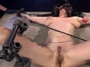 Busty alt hottie in bondage toyed