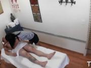 Bitch prefers fucking during massage