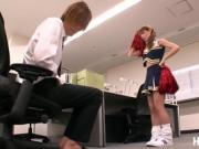 Japanese babe Tina Yuzuki gives a titty fuck to her bf