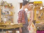 Sweet blonde Zazie Skymm gets anal