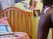 Ebony Teen Strip Tease in webcam