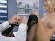 Blonde Boss Alix Lynx Gets Humped And Facialized