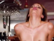 Bartender has sneaky sex at work