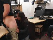 Couple sluts tried to steal and nailed at the pawnshop