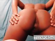Fantasy Young Teen Ebony Girl Ass Worship Realizes Sex Robot