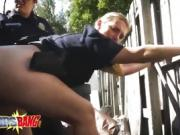 Busty cop destroyed with black cock