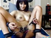 Sexy girl tied with chains XPUSSYCAM