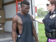 Black thug bangs two horny female cops
