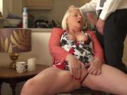 British granny fingerfucking her horny cunt