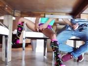 Ebony Babe Kendall Woods Swallows Jocks Big Cock
