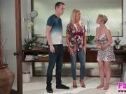 Hot MILFs Erica and Dee gets fuck by Justin Hunts big cock