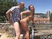 Dick-riding in front of cameras