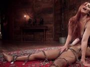 Natural busty redhead anal fucks ebony
