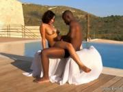 Ebony Couple Having An Intimate Love Making