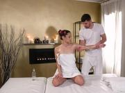 Ukrainian hottie gets massage and fuck