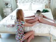 teen plays with her real flexi doll