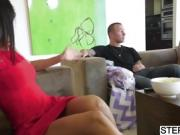 Stepmom bangs Maya Bijou and her BF