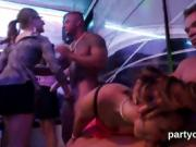 Flirty sweeties get fully wild and nude at hardcore party