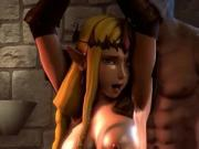 3D Fantasy blonde Teen Elf and Milf 3D cartoon Hentai