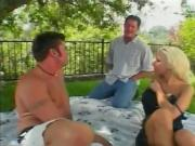 Hot Blonde Gives Two Hard Studs Fantastic Head