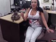 Busty Latina gets fucked for some cash