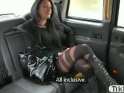 Passenger screwed and receives hot cum by the driver