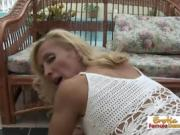 Blonde Babe With Nice Butt Rides A Big Dick