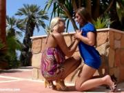 Two Sexy Babes Get It On Under The Bright Sun