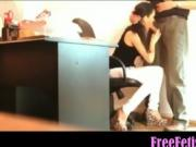 Petite Italian Secretary Blows Big Boss - FreeFetishTVcom