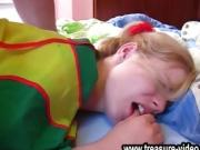 sleeping blond teeny first gangbang from purzel.